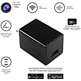Hidden Spy Camera USB Wall Charger with WiFi, 32GB SD Card and Motion Detection