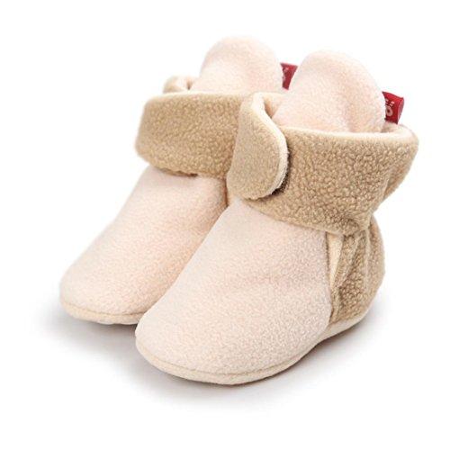 Huhu833 Kinder Mode Baby Stiefel Soft Sole, Schnee Stiefel, Bunt Stiefel, Soft Crib Schuhe Kleinkind Stiefel Warm Schuhe Khaki