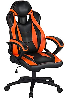 Merax Ergonomic Racing Style PU Leather Gaming Chair for Home and Office by Henglin