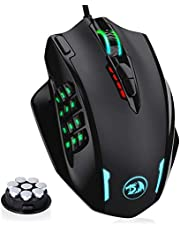 Redragon M908 IMPACT RGB LED MMO Mouse Laser Wired Gaming Mouse with 12,400DPI, High Precision, 18 Programmable Mouse Buttons