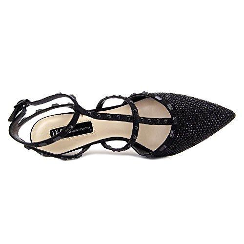 Strap Ankle INC Black International Womens Glitter carma2 Toe Fabric Concepts Pointed Class aO8qa0