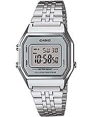 Relógio Feminino Digital Casio Vintage LA680WA-7DF - Prata