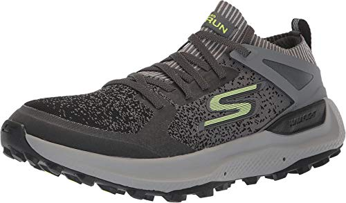 Skechers Mens GOrun Maxtrail 5 Ultra Athletic & Sneakers Charcoal/Lime