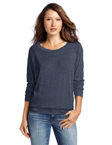 Alternative Women's Slouchy Pullover Sweatshirt, Eco True Navy, Large