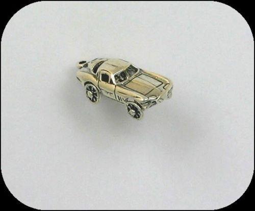 - Sterling Silver 3-D Movable Corvette Charm - Jewelry Accessories Key Chain Bracelet Necklace Pendants