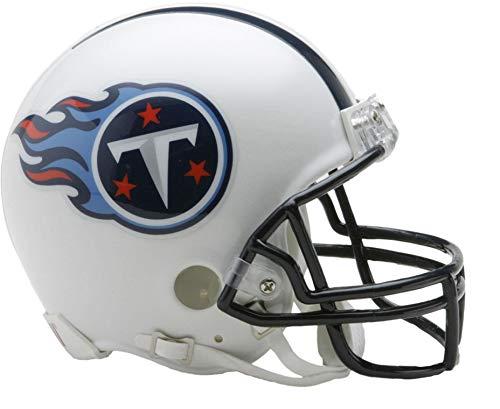 Sports Memorabilia Riddell Tennessee Titans Throwback 1999-2017 VSR4 Mini Football Helmet - NFL Mini Helmets ()