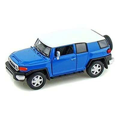 Kinsmart New 1:36 Display - Blue Color Toyota FJ Cruiser Diecast Model Car: Toys & Games