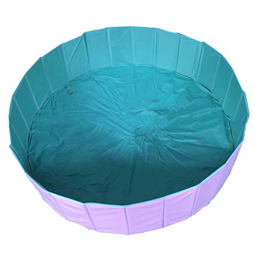 (Sarazong Pet Pool Folding Pool Folding Pet Pool Convenient Toiletries Animal Bath Dog Tub Cat Tub Cleaning Supplies,Pink,120cm)