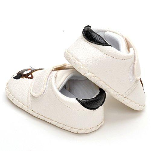 ESTAMICO Infant Animal handgefertigt Crib Shoes Weiß