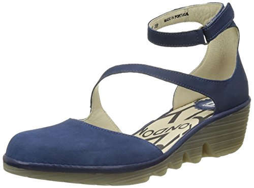 Escarpins Plan717 London 014 Bleu blue Femme Fly blue wEgd5qw