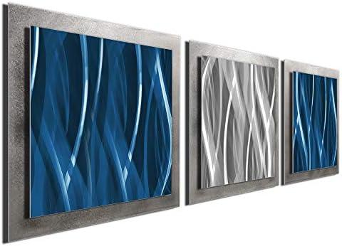 Urban Metal Art Abstract Wall Sculpture Modern Artwork Contemporary Silver Decor