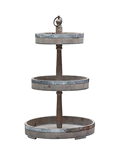 Well known Amazon.com: Wood & Tin 3 Tier Trays Display Stands Country Rustic  JO27
