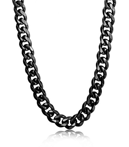 Beaded Curb Chain - Jstyle 9mm Wide Stainless Steel Necklace Curb Chain Necklace for Men 26 Inch