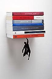 ARTORI Design Black Metal Superhero Floating 5.1 x 4.7 x 6.3-Inch Wall Mount Bookshelf