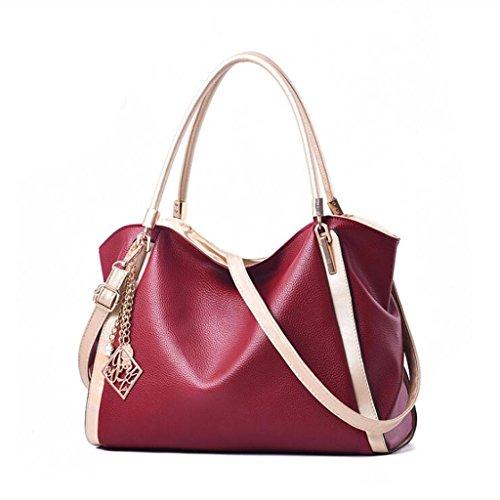 Tote Female Bag Female Bag Soft Bag Fashion Classic Female Messenger Messenger (size: 36 * 15 * 23cm) (color: Red) Network