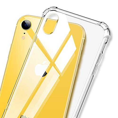 DIACLARA iPhone XR Cases Clear iPhone 10R Cases Full Protection 6.1 inch Shockproof Corner Protection Designed Hybrid Drop Protective Apple Cover 2018(Clear)