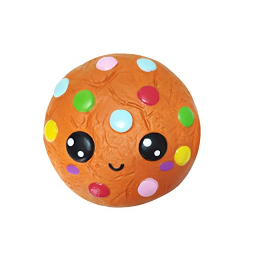 Gbell  Delicious Pretend Food Squeeze Toy,Cartoon Chocolates Biscuits Scented Slow Rising Stress Reliever Squishies Toy Hand Toy for Kids -