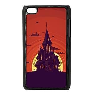 iPod Touch 4 Case Black Weird Castle In Moon DrawSLI_798758