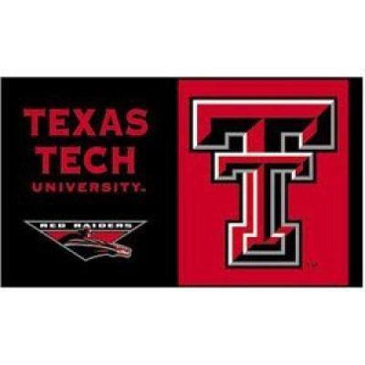 NCAA Texas Tech Red Raiders Car Flag