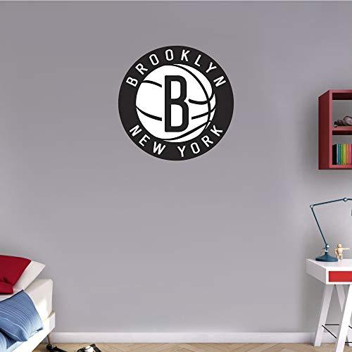 skyhighprint - Brooklyn Nets NBA Basketball Sport Logo Wall Decor Vinyl Print Sticker 22'' X 22'' ()