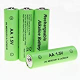 4pcs AA Alkaline Rechargeable Battery 1.5V for RC Clock MP3 Toys Remote Control LED Light