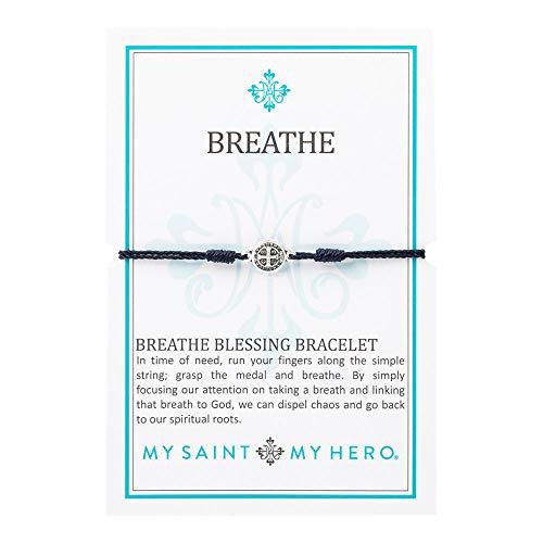 My Saint My Hero Breathe Bracelet - Navy/Silver -