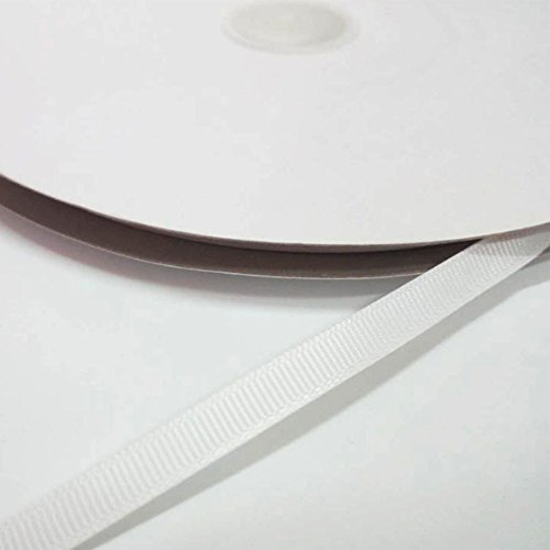 1/4 Inch Double Face Solid Grosgrain Ribbon 100 Yards, for Gift Wrapping, DIY Bow Hair Accessories, White by Feelpower
