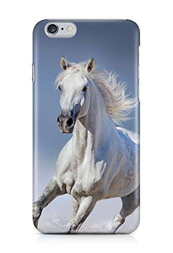COVER Pferd weiss Schimmel Tier Galopp Design Handy Hülle Case 3D-Druck Top-Qualität kratzfest Apple iPhone 6 Plus