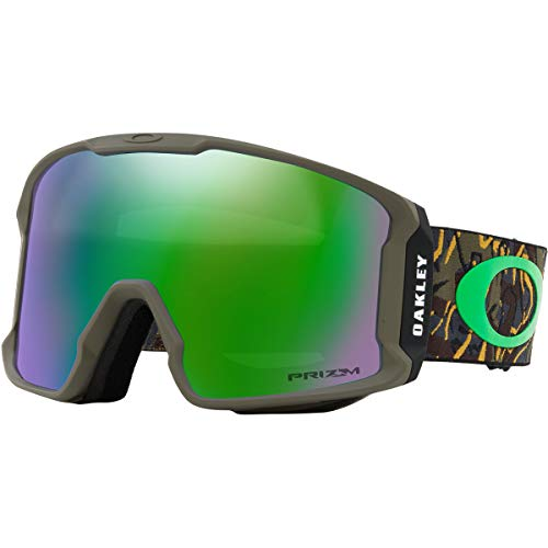 1baef9af82 Oakley Line Miner Men s Snowmobile Goggles - Camo Vine Jungle Prizm Jade  Iridium Large