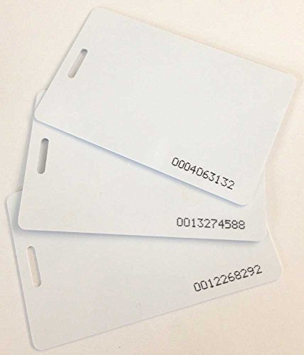 Compumatic proximity badge cards for XLS 21 and CFR-20/20 time clock, 10 pack (RFID 125 KHz thin ISO 0.8 mm) - Model Xls