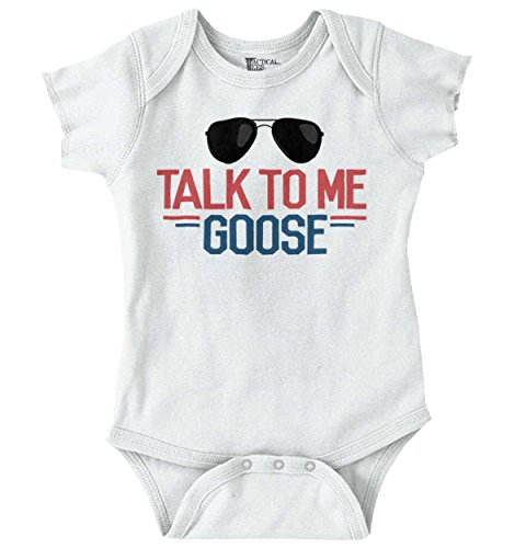 Brisco Brands Talk Goose New Parents Baby Shower Gifts Funny Saying Baby Onesie Bodysuit (Onesies Sayings)