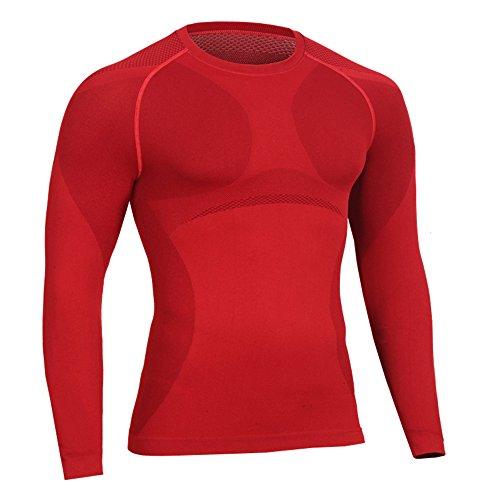 Bwiv Camiseta Hombre Deportiva Camiseta Compresión Hombre Manga Larga  Fitness Gimnasio Aire Libre para Entrenamiento Ciclismo b364792538ec7