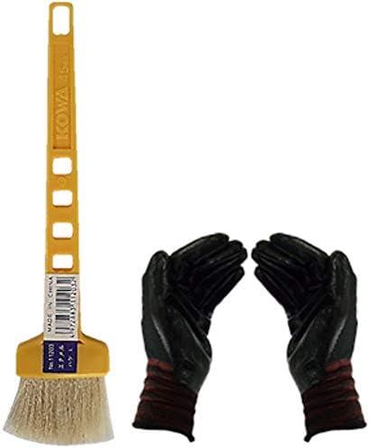 黄柄エナメルハケL (作業手袋付き)お急ぎ便