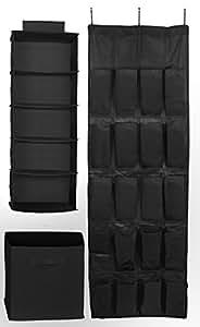 Sorbus® Set of 3 Foldable Storage Box Cube Basket, Hanging Closet Shelves Organizer, Hanging Shoe Organizer