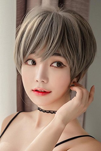 Amazon Com Generic Women Girls Lady Short Hair Wig Head Bob Korea