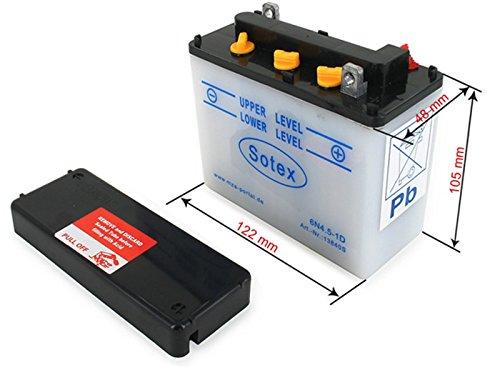 SR4-3 Sperber SR4-2 Star SR4-1 Spatz SOTEX Batterie 6V 4,5Ah SOTEX - Simson KR51//1 Schwalbe SR4-4 Habicht mit S/äure KR51//2 Schwalbe