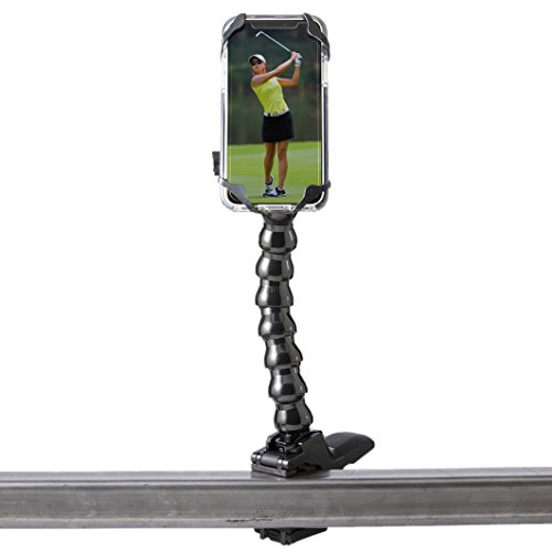 Golf Gadgets - Swing Recording System | Magnetic Device Holder for ANY Phone with Jaws Clamp & Gooseneck Mount. Compatible All Devices Like iPhone and iPhone PLUS, Samsung Galaxy, Galaxy Note, etc. by Golf Gadgets