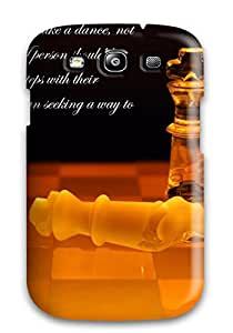 Top Quality Case Cover For Galaxy S3 Case With Nice Games Misc Love Quote Chess Motivational Abstract Misc Appearance