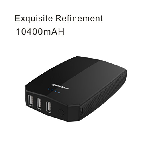 AIRGINE A-16 External battery Power bank Portable Charger Powerbank 1 pack-Black by AIRGINE (Image #1)