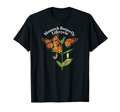 Monarch Butterfly T-shirt Caterpillar chrysalis Tee