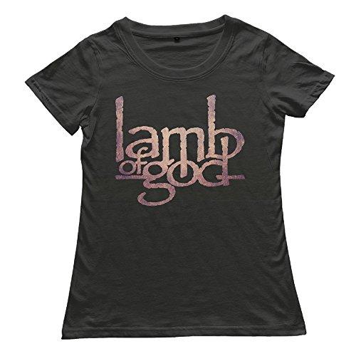 Chocy Women's Lamb Of God Heavy Metal Band Classic T Shirt Black Size XXL