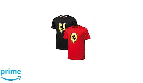 FERRARI Camiseta niño Escudo Rojo Talla 12 años: Amazon.es ...