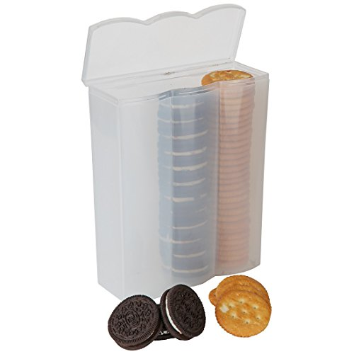 Home-X Convenient Cracker and Cookie Keeper. 3 Rows (Goldfish Cracker Container compare prices)