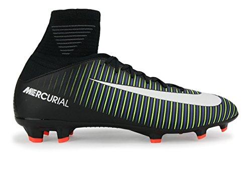 Nike Barna Mercurial Superfly V Fg Sort / Hvit / Elektriske Grønn Fotballsko Svart / Hvit / Elektrisk Grønn