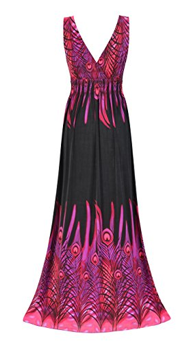 long black peacock dress - 4