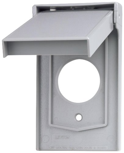 Cover Lid Pump (Leviton 4979-GY 1-Gang Single Receptacle Wallplate Cover, Weather-Resistant, Thermoplastic, Device Mount, Vertical Self Closing Lid, Gray)