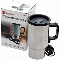 NEW 12V STAINLESS STEEL ELECTRIC MUG KETTLE JUG - CAR HEATED - REMOVEABLLE ELECTRIC WIRE by Kingavon