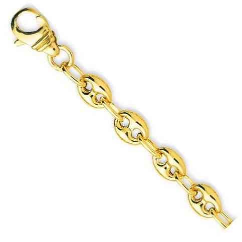 Robbez masson - Femme - Bracelet Or 9 Carats Maille Grain de Café- Référence : 610001.2 - Longueur : 18 cm