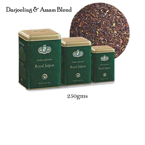 INDIAN SPLENDOR Royal Jaipur - Exclusively Handpicked, 100% Pure and Natural, Premium Darjeeling and Assam Leaf Tea Blend. (Flowery Exquisite)