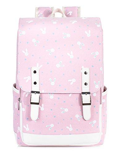 - Leaper Cute Bunny Backpack Laptop Backpack Rabbit Bag School Bag Satchel Pink L
